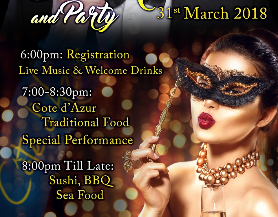 It's Party Time @Seven Seas Cote d'Azur On the 31st March 2018