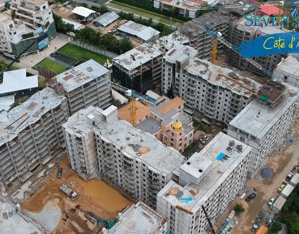 May 2018 Seven Seas Cote d'Azur - Na-Jomtien, Thailand. Construction Status
